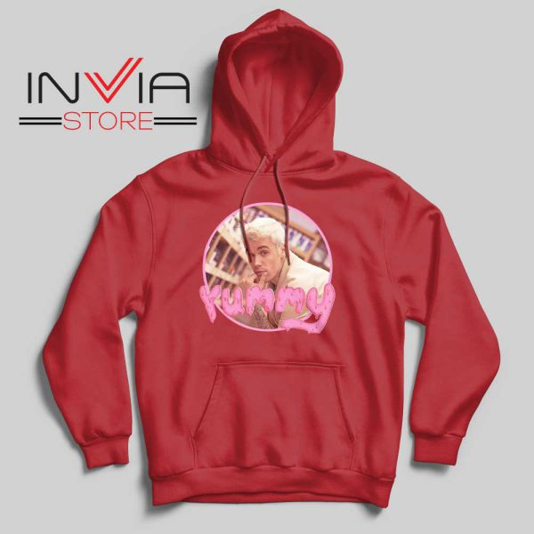 Yummy Justin Bieber Hoodie Red