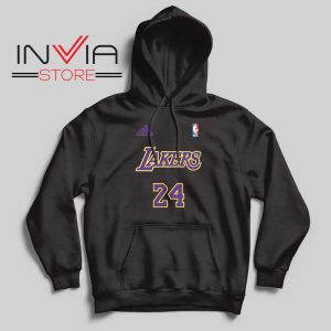 24 Lakers Adidas Jersey Tribute Black Hoodie