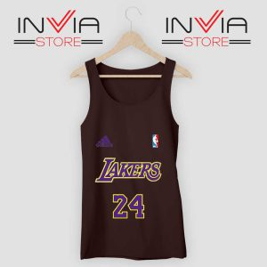 24 Lakers Adidas Jersey Tribute Black Tank Top
