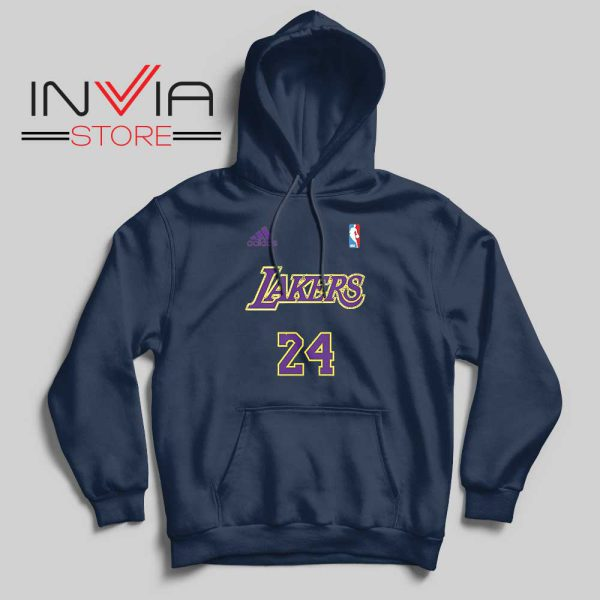24 Lakers Adidas Jersey Tribute Navy Hoodie