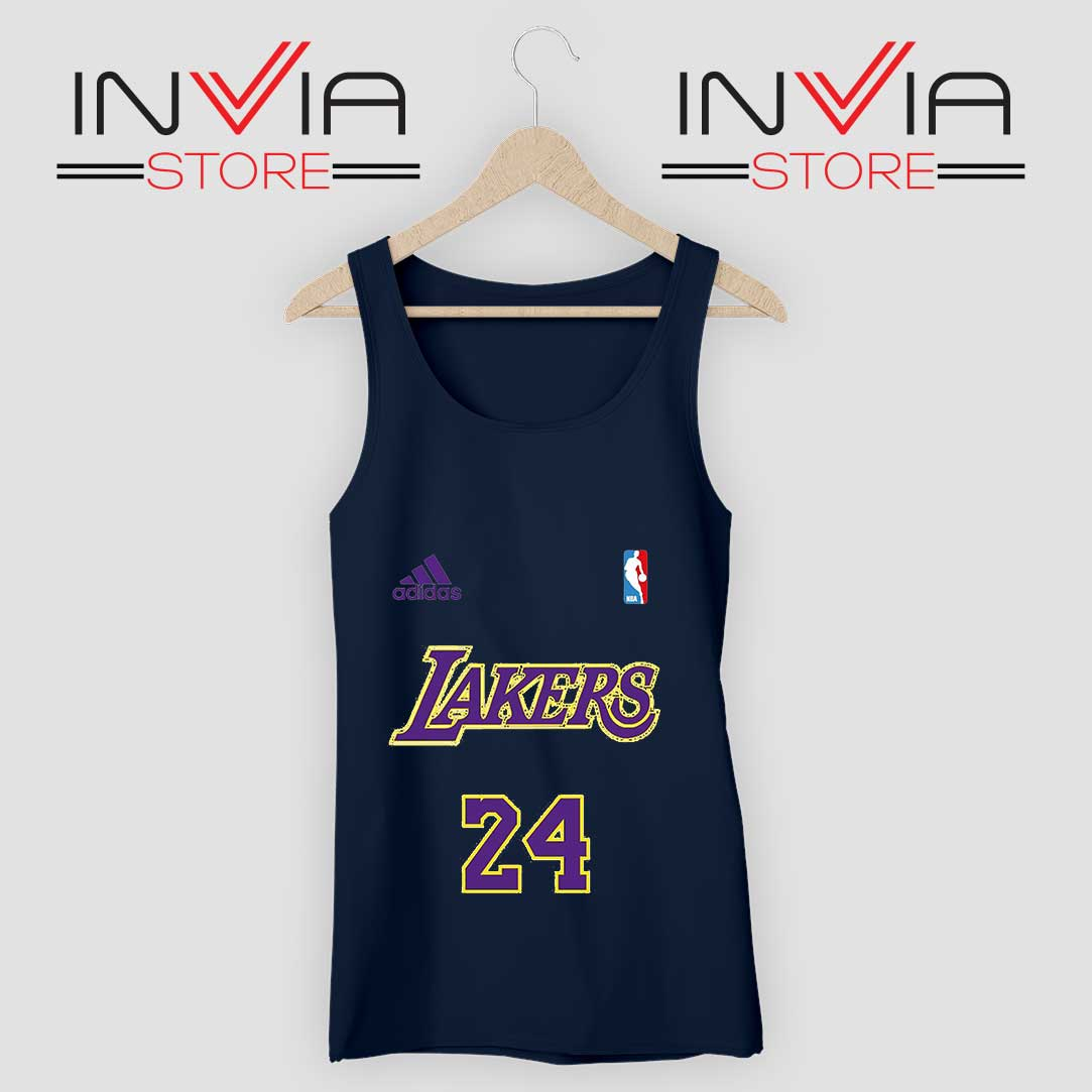 24 Lakers Adidas Jersey Tribute Navy Tank Top