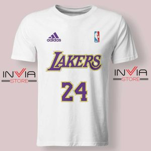 24 Lakers Adidas Jersey Tribute Tshirt