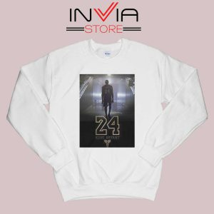 24 Legend Kobe Bryant Gold Sweatshirt White