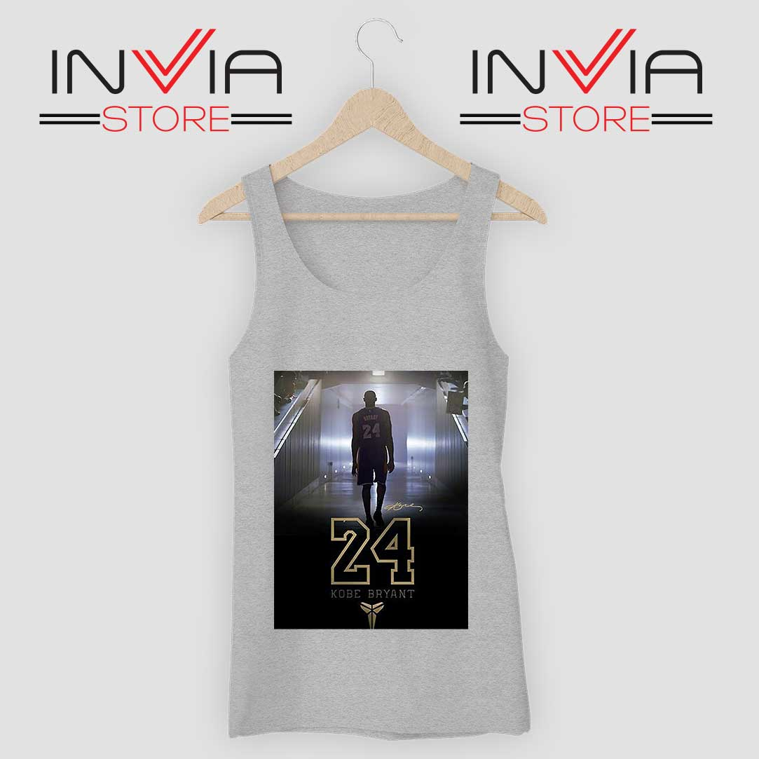 24 Legend Kobe Bryant Gold Tank Top Grey
