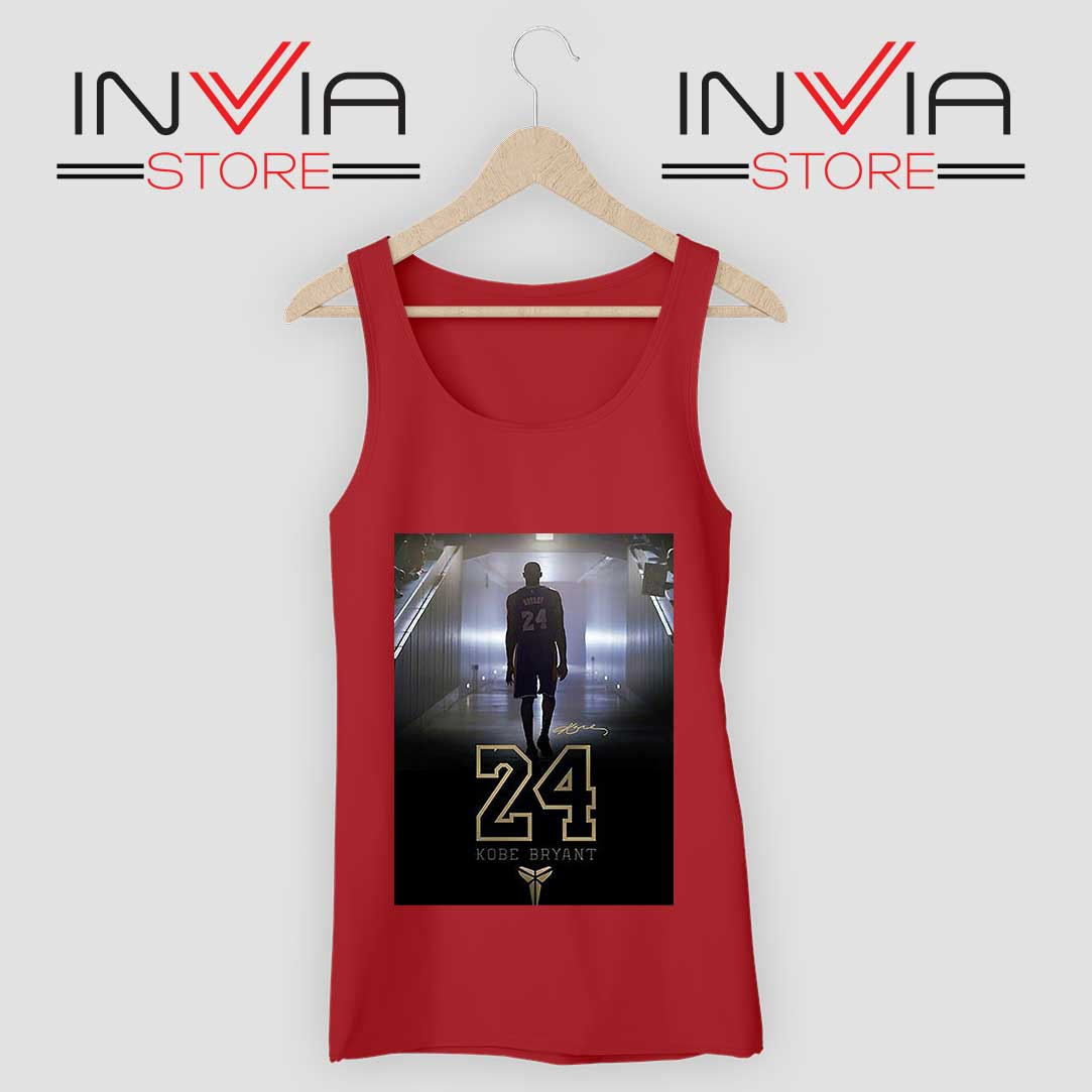 24 Legend Kobe Bryant Gold Tank Top Red