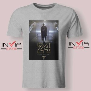 24 Legend Kobe Bryant Gold Tshirt Grey