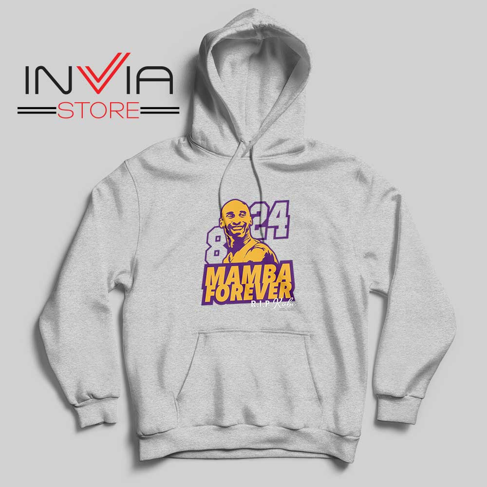 8 and 24 Mamba Forever Hoodie Grey