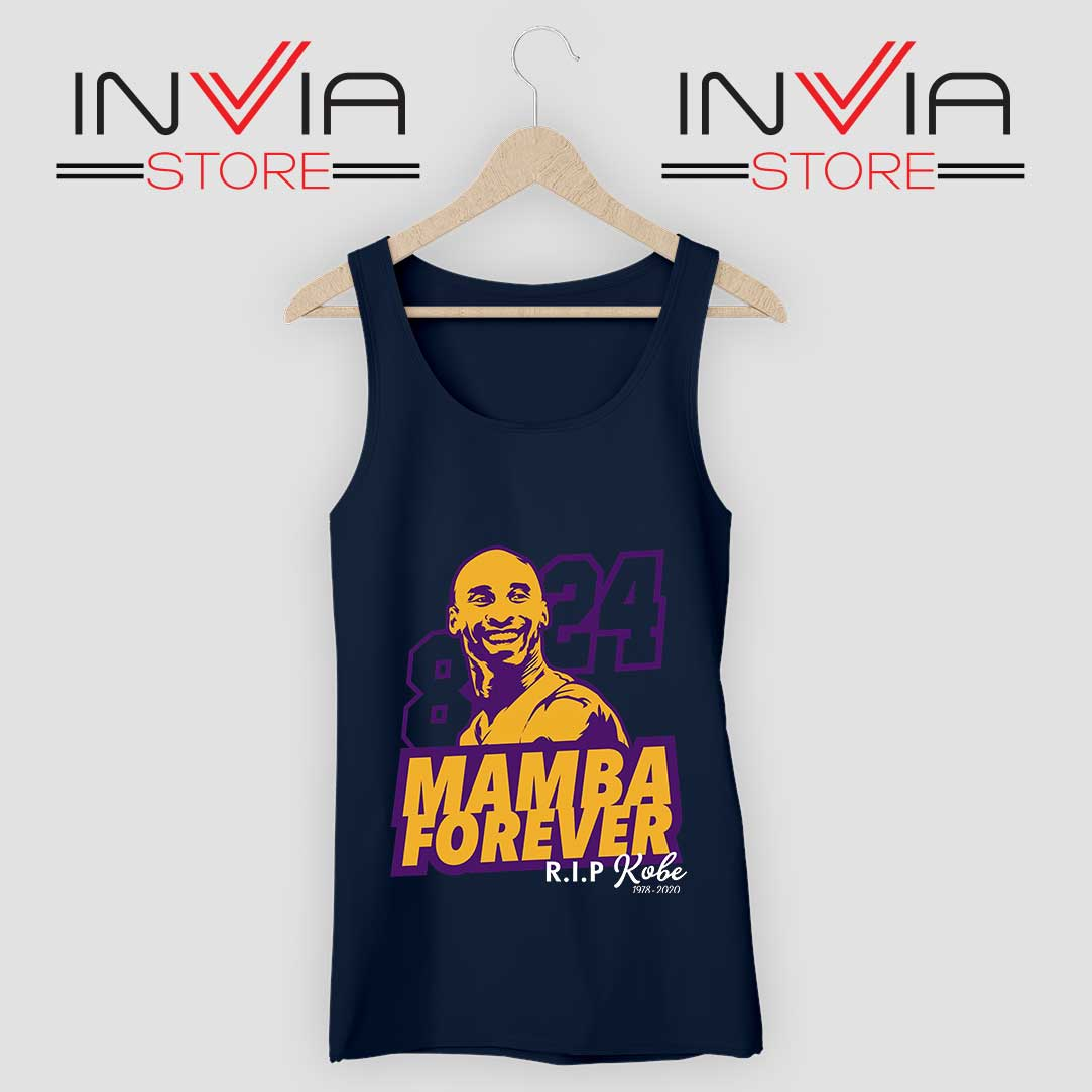 8 and 24 Mamba Forever Tank Top Navy