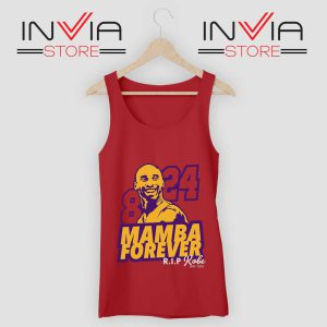 8 and 24 Mamba Forever Tank Top Red