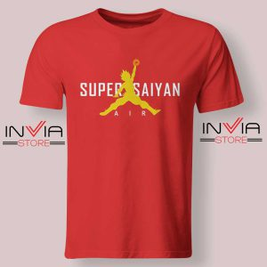 Air Jordan Super Saiyan Red Tshirt