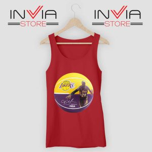 Basket Ball LA Lakers Kobe Tank Top Red