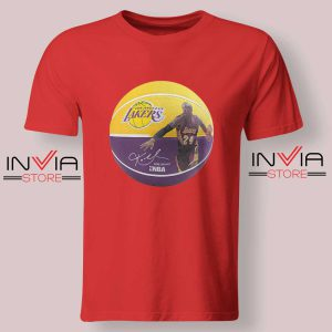 Basket Ball LA Lakers Kobe Tshirt Red