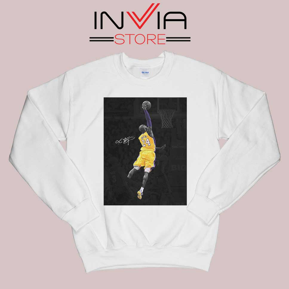 Best Kobe Jump and Dunk Sweatshirt White