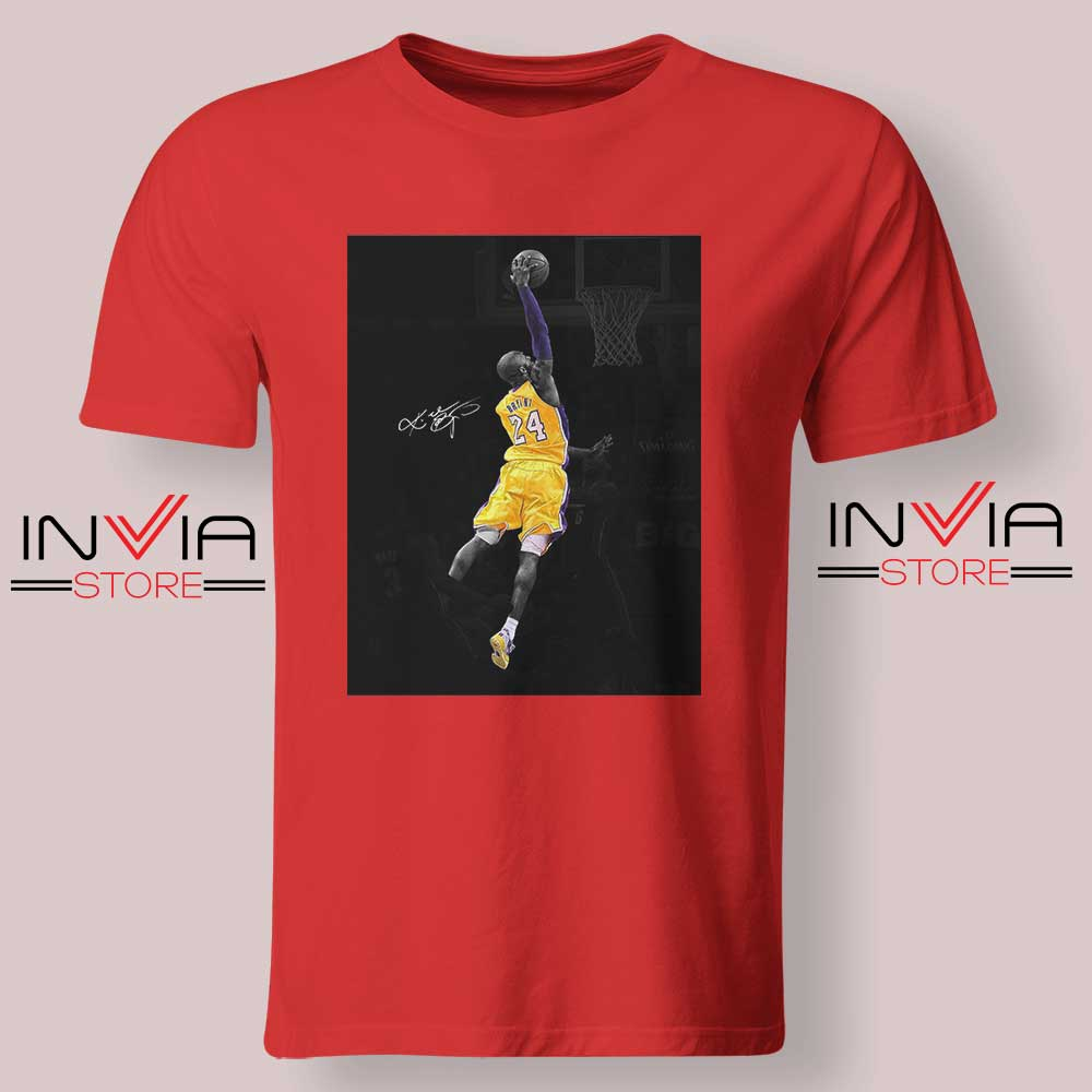 Best Kobe Jump and Dunk Tshirt Red