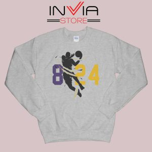 Black Mamba 24 8 Jersey Grey Sweatshirt
