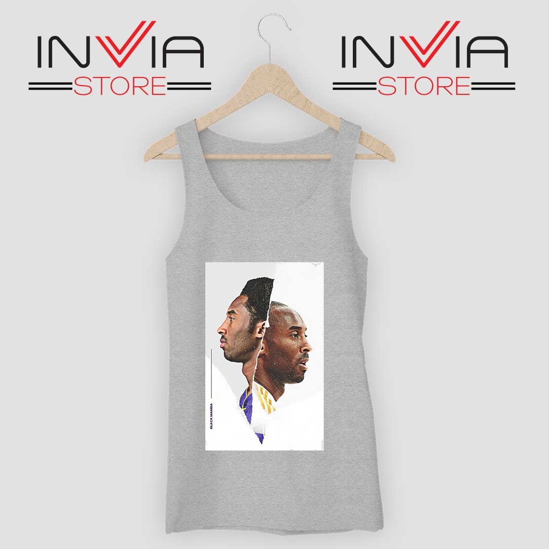 Black Mamba Kobe Face Grey Tank Top