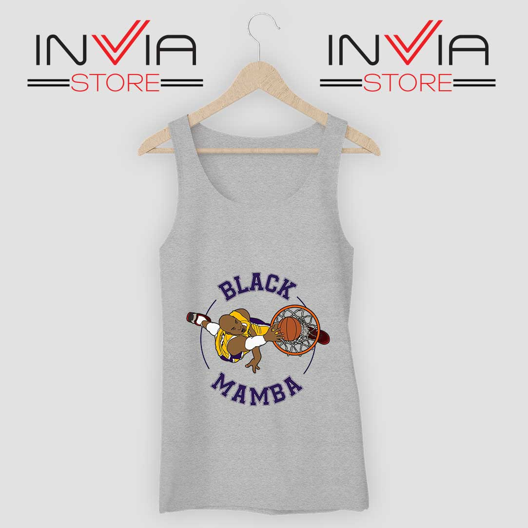 Black Mamba RIP Kobe Bryant Tank Top Grey