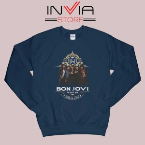Bon Jovi Wanted Dead Or Live Navy Sweatshirt