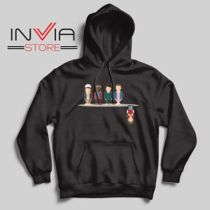 Cartoon The Upside Down Black Hoodie