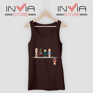 Cartoon The Upside Down Black Tank Top
