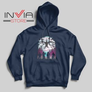 Demogorgon Species Stranger Things Navy Hoodie