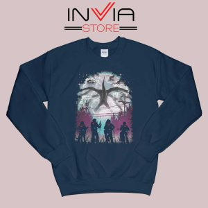 Demogorgon Species Stranger Things Navy Sweatshirt