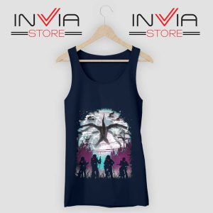 Demogorgon Species Stranger Things Navy Tank Top