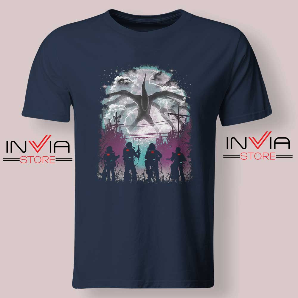 Demogorgon Species Stranger Things Navy Tshirt