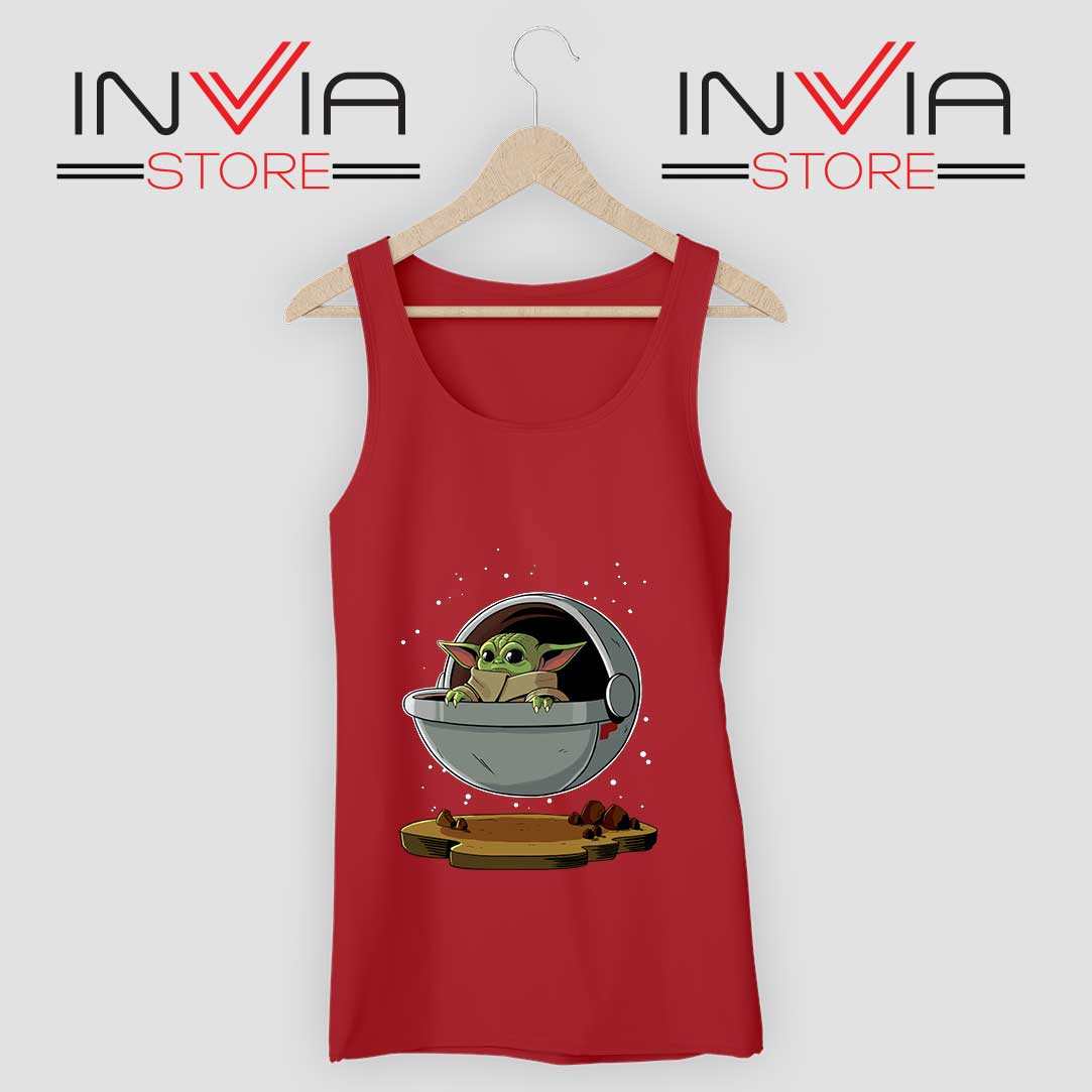 Floating Baby Yoda Tank Top Red