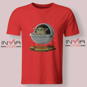 Floating Baby Yoda Tshirt Red