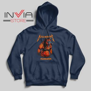 Hall And Oates Metal Beast Navy Hoodie