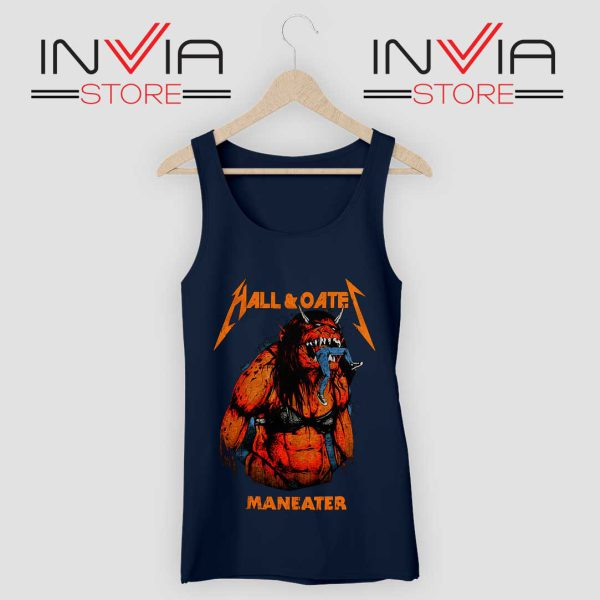 Hall And Oates Metal Beast Navy Tank Top