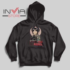 I Want You To Rebel Star Wars Black Hoodie