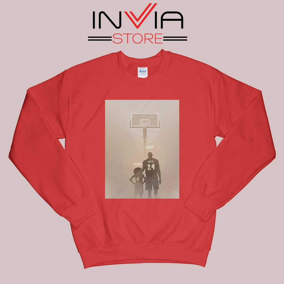 Kobe Bryant and Daughter Tribute Sweatshirt Red