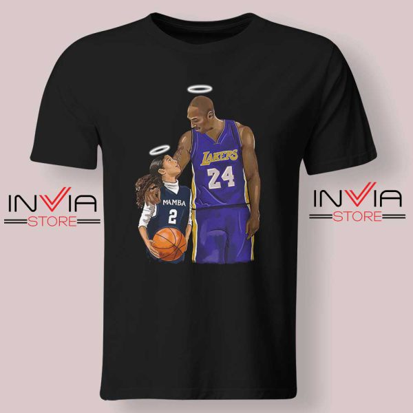 Kobe Bryant and Gigi Bryant NBA Tshirt Black