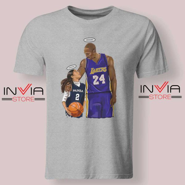 Kobe Bryant and Gigi Bryant NBA Tshirt Grey