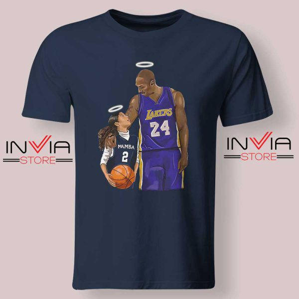 Kobe Bryant and Gigi Bryant NBA Tshirt Navy