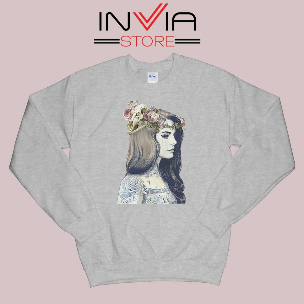 Lana Summertime Sadness Grey Sweatshirt