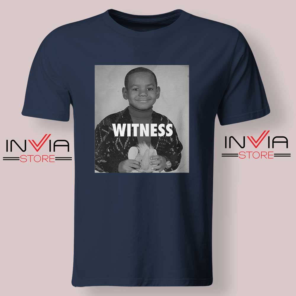 LeBron James Witness Quotes Navy Tshirt