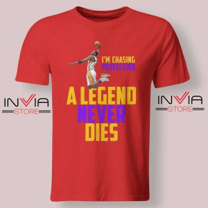Legend Never Dies Mamba Red Tshirt