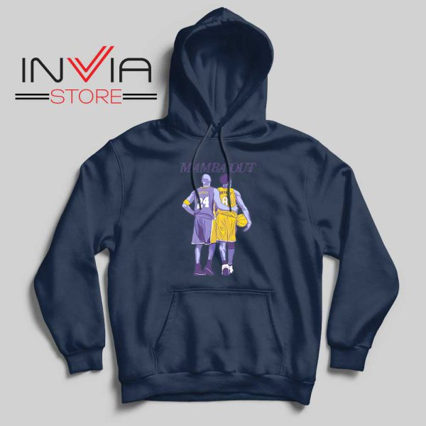 Mamba Out Kobe LA Lakers Navy Hoodie