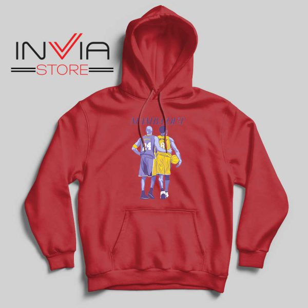 Mamba Out Kobe LA Lakers Red Hoodie