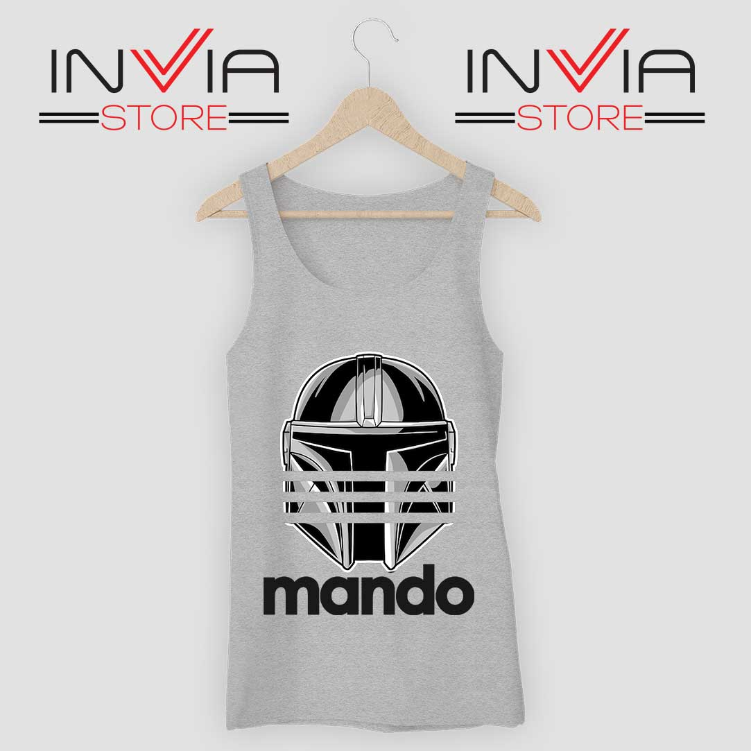 Mando Adidas Stripes Grey Tank Top
