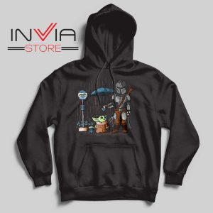 My Neighbor The Child Yoda Black Hoodie