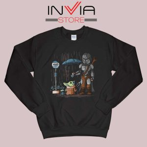 My Neighbor The Child Yoda Black Sweatshirt