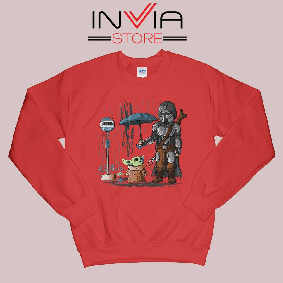 My Neighbor The Child Yoda Red Sweatshirt