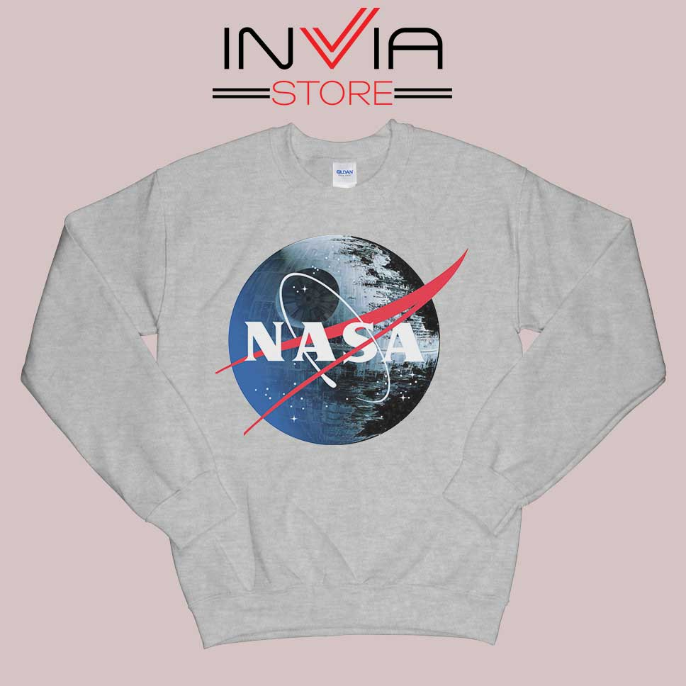 NASA Death Star Grey Sweatshirt