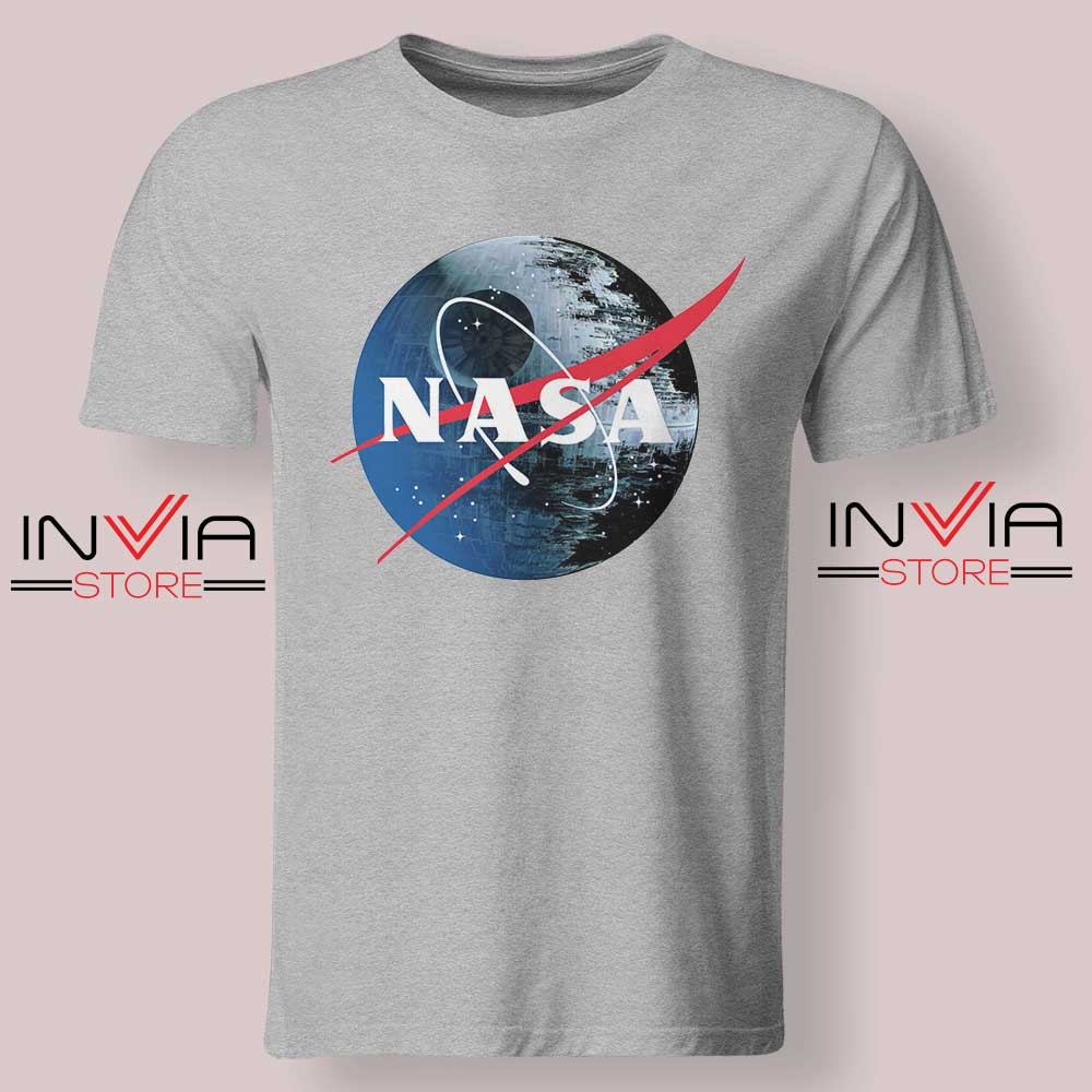 NASA Death Star Grey Tshirt