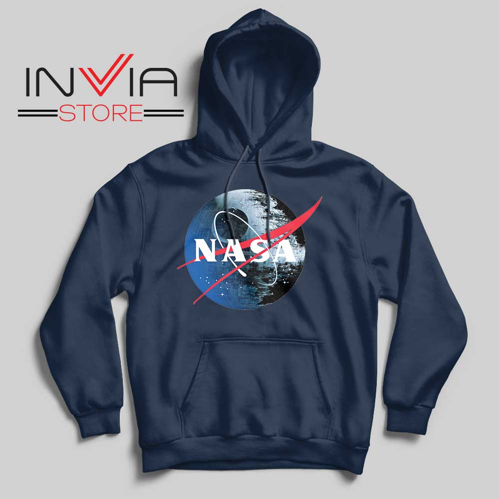 NASA Death Star Navy Hoodie