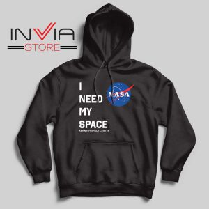 NASA I Need My Space Black Hoodie